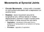 movements at synovial joints24