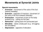 movements at synovial joints27