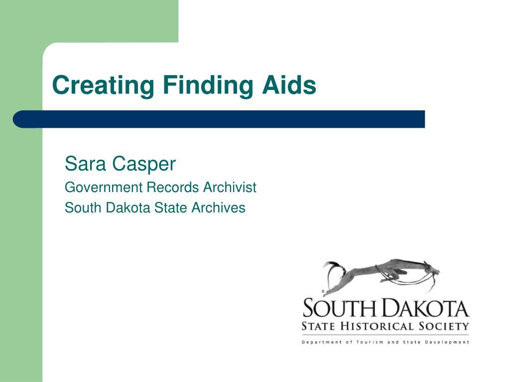 sara casper government records archivist south dakota state archives l.