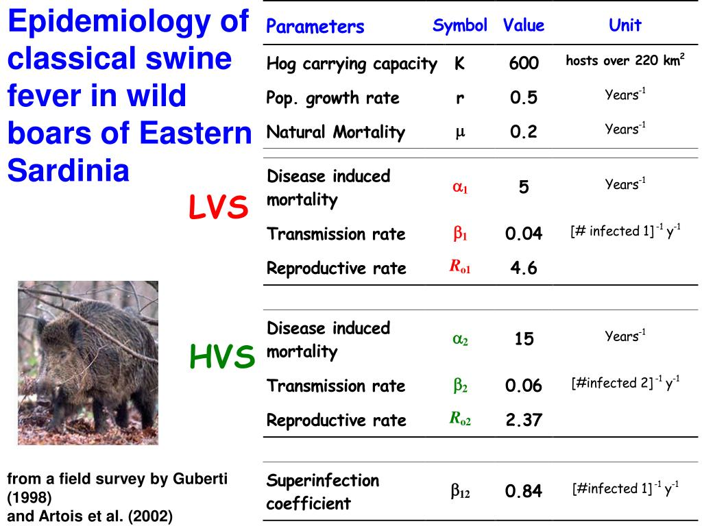 Epidemiology of classical swine fever in wild boars of Eastern Sardinia