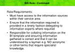 bis role continued