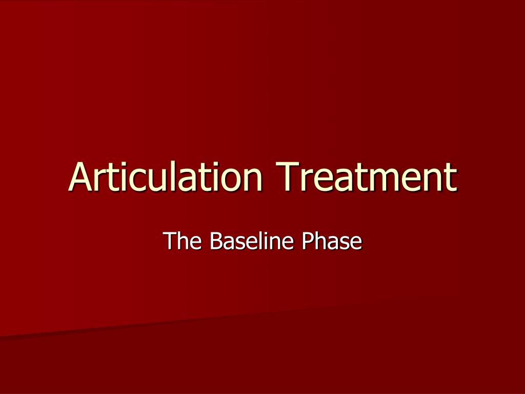 articulation treatment l.
