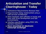 articulation and transfer clearinghouse today