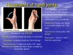 movements of hand joints35
