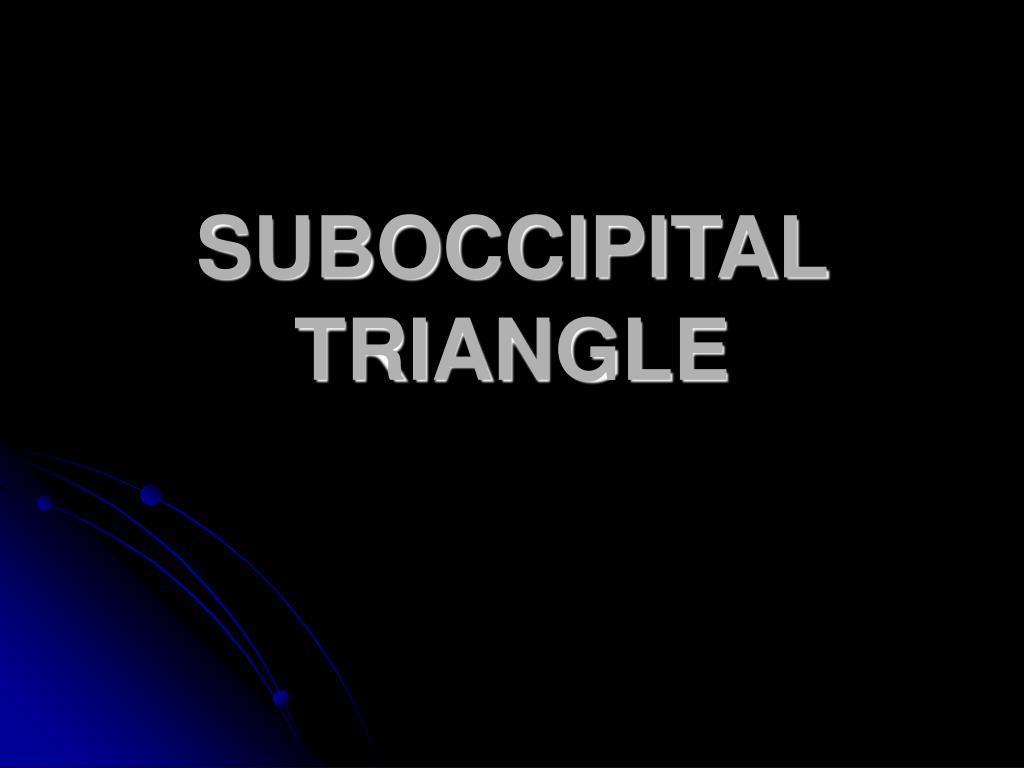 suboccipital triangle l.