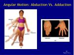 angular motion abduction vs adduction