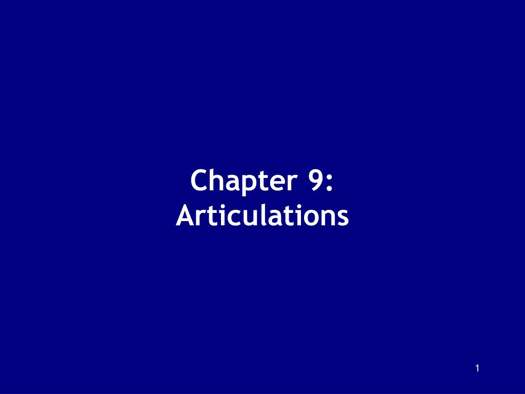 chapter 9 articulations l.