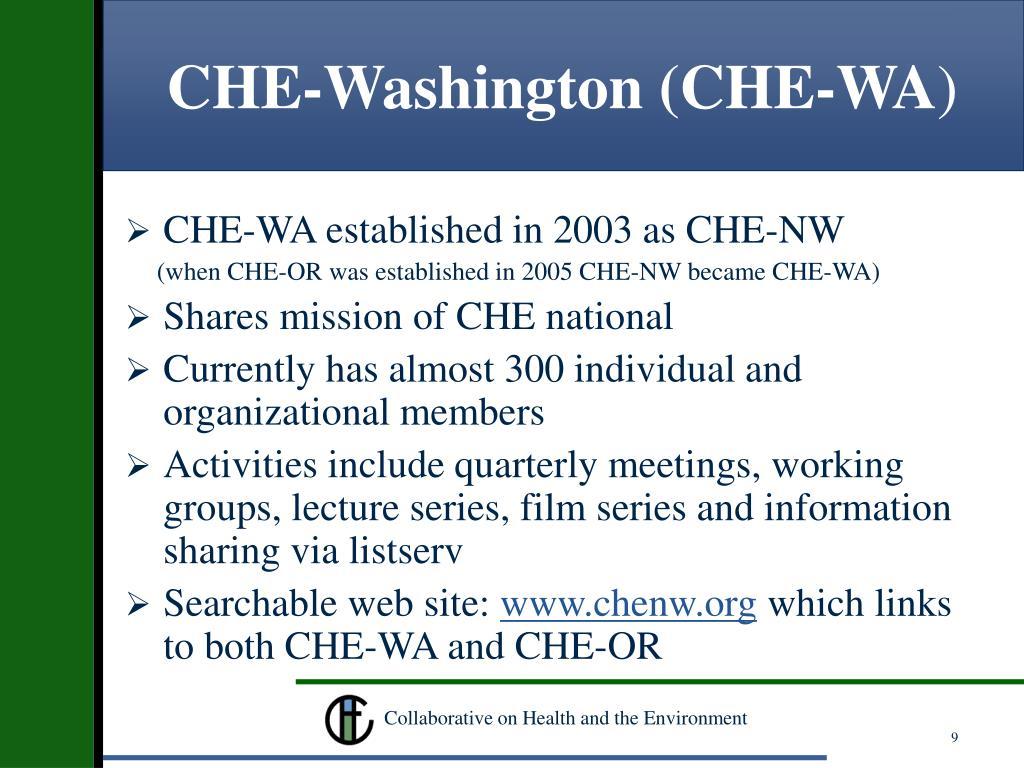 CHE-Washington (CHE-WA