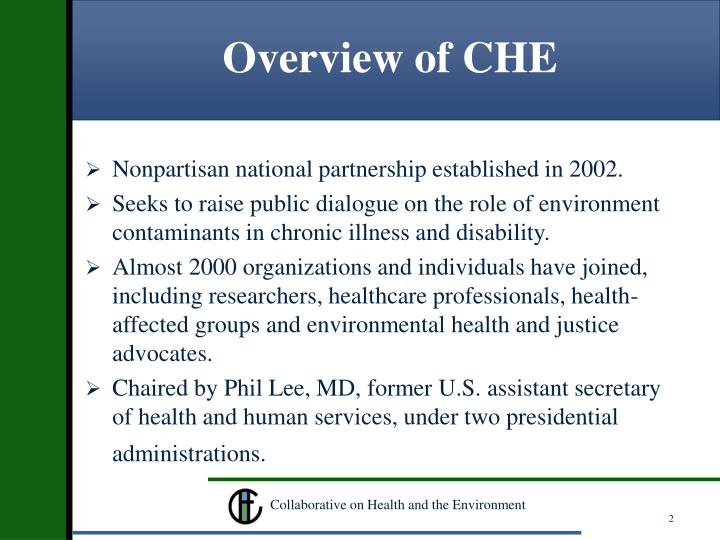 Overview of che