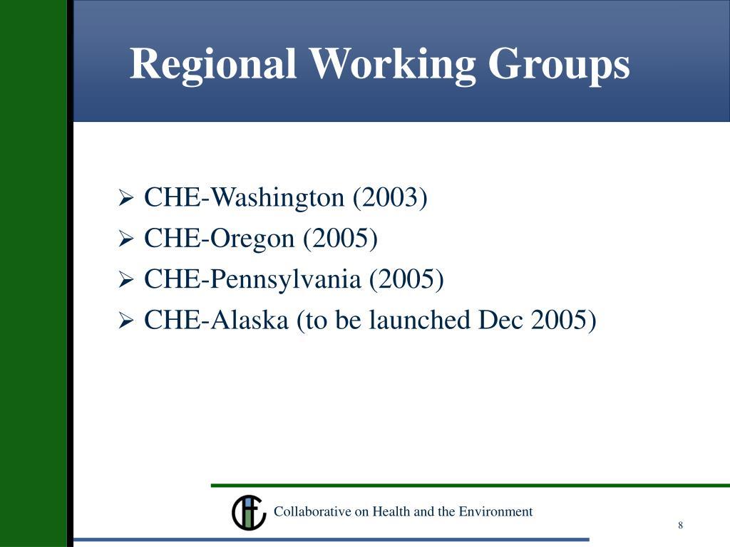 Regional Working Groups