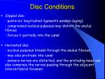 disc conditions