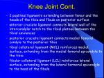 knee joint cont