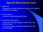 special movements cont