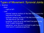 types of movement synovial joints33