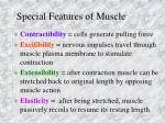 special features of muscle