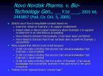 novo nordisk pharms v bio technology gen f 3d 2005 wl 2443857 fed cir oct 5 2005