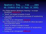 nystrom v trex f 3d 2005 wl 2218631 fed cir sept 14 2005