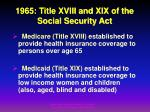 1965 title xviii and xix of the social security act
