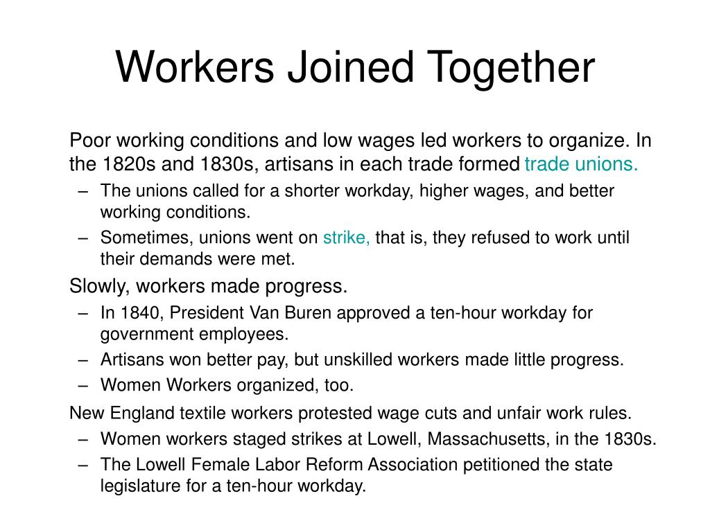 Workers Joined Together