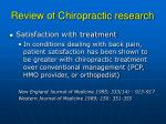 review of chiropractic research