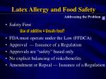latex allergy and food safety68