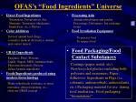 ofas s food ingredients universe