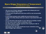 myers briggs dimensions of temperament your preferences in action
