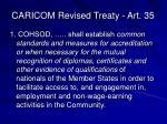 caricom revised treaty art 35