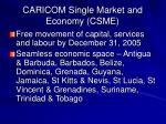 caricom single market and economy csme