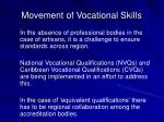 movement of vocational skills