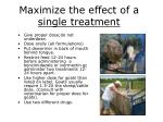 maximize the effect of a single treatment
