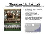 resistant individuals parasite resistance varies between individual animals of the same breed type