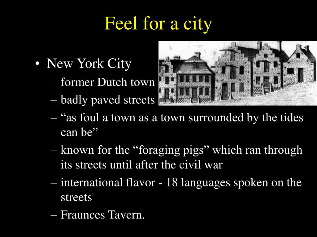 Feel for a city