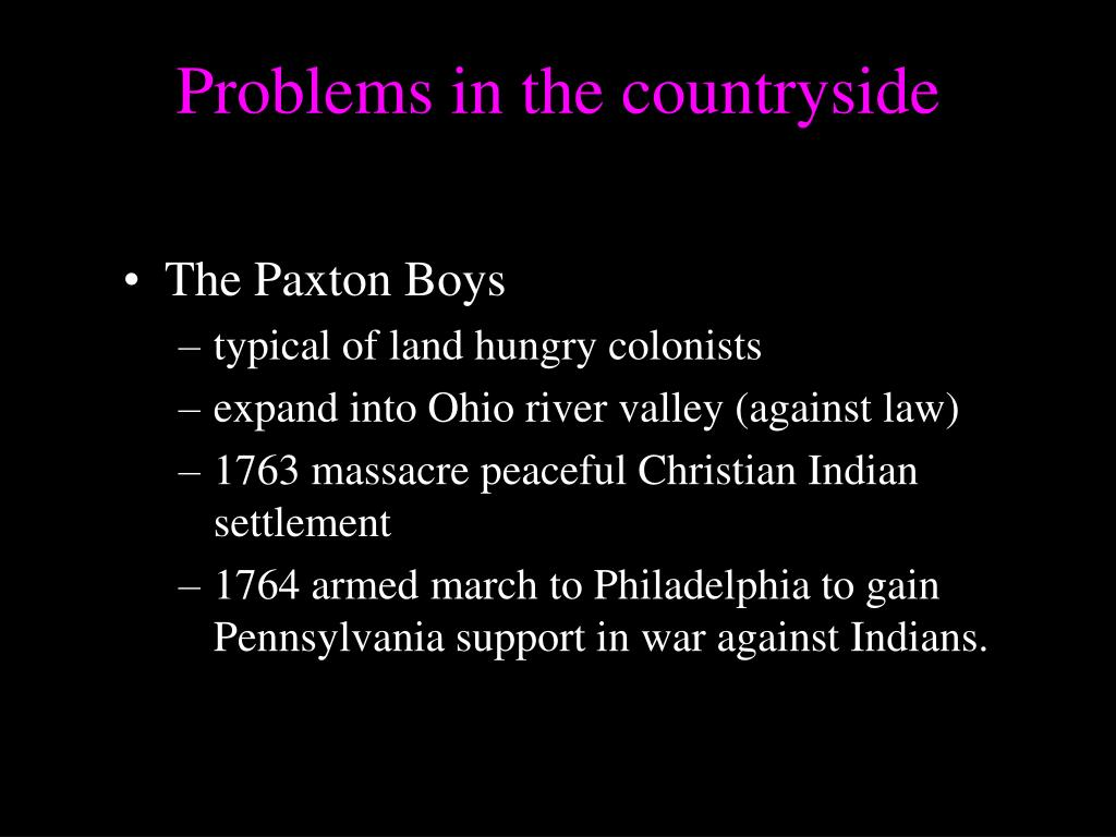 Problems in the countryside
