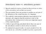 articulatory states vs articulatory gestures