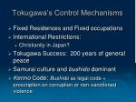 tokugawa s control mechanisms7