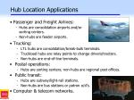 hub location applications