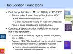 hub location foundations