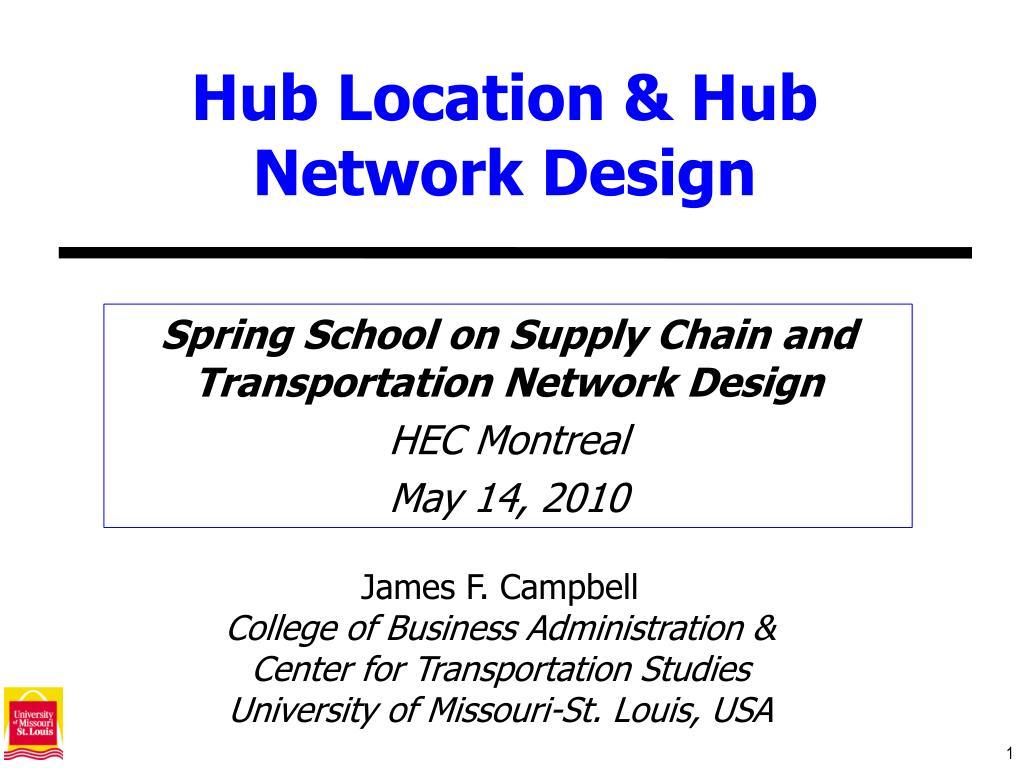 hub location hub network design l.