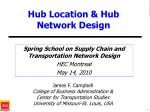 hub location hub network design
