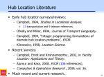 hub location literature