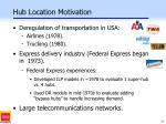 hub location motivation
