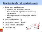 new directions for hub location research