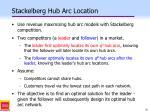 stackelberg hub arc location