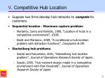 v competitive hub location