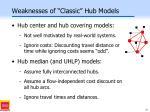 weaknesses of classic hub models