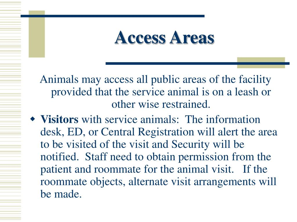 Access Areas