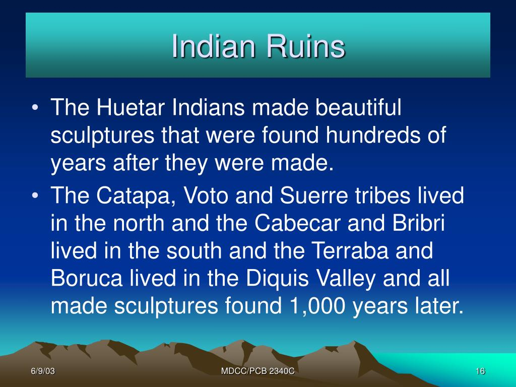 Indian Ruins