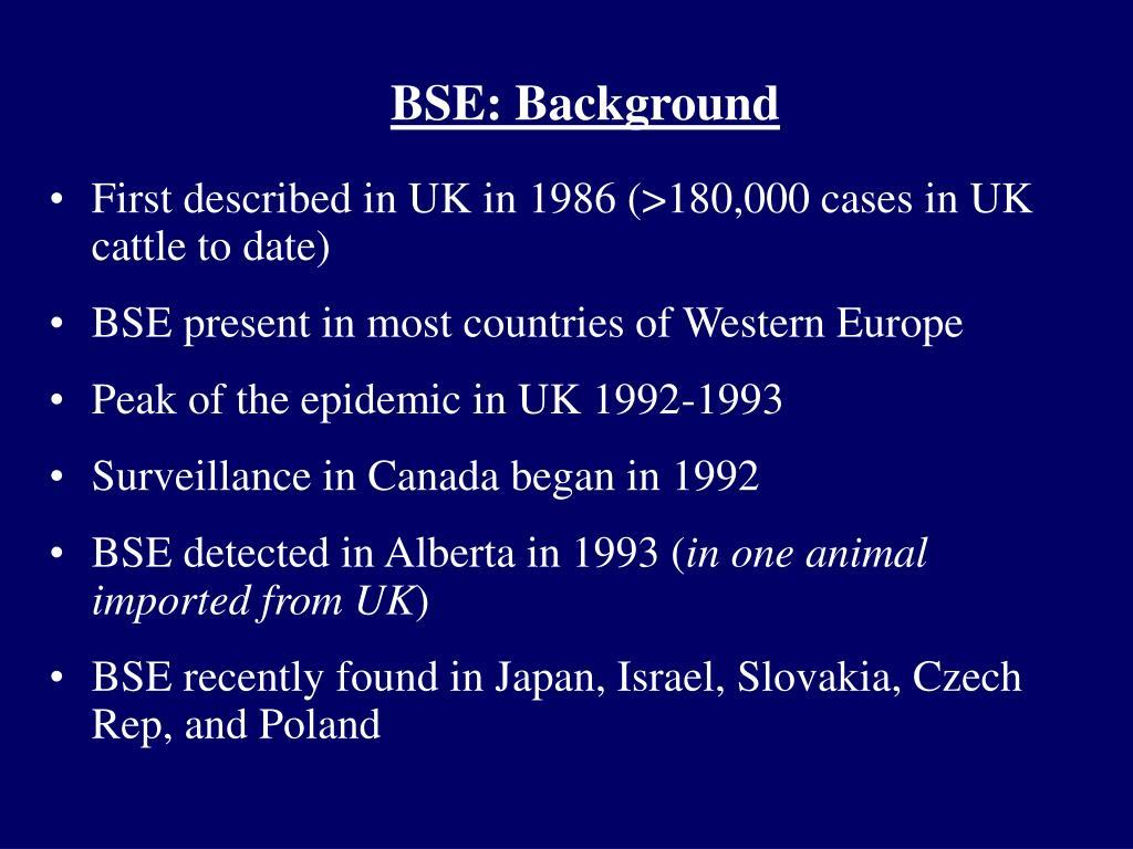 BSE: Background