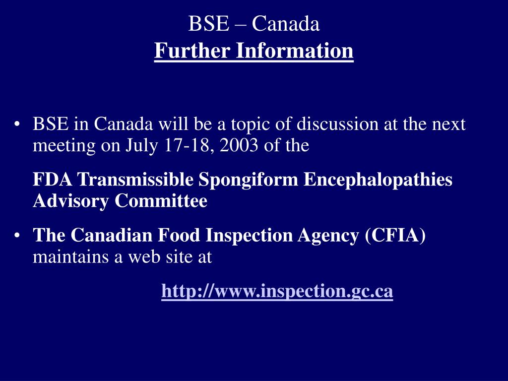 BSE – Canada
